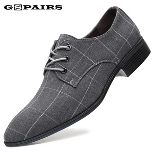 Men Classic Business Shoes Man Dress Shoes Fashion Korea Pointed Toe Lace-Up Formal Wedding Shoes Men Black Lattice 2020 New