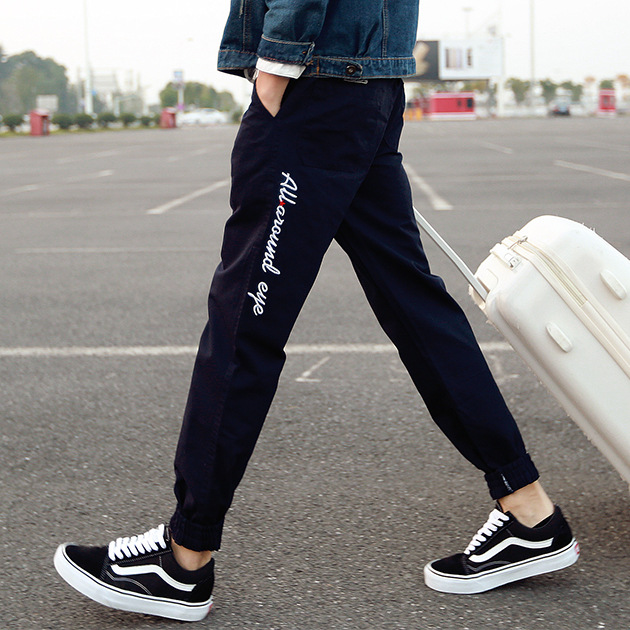 Autumn New Style Beam Leg Casual Pants Male STUDENT'S Loose-Fit Japanese-style Harem Pants Fashion Skinny Sports Long Pants