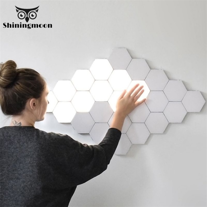 Modern LED Night Light Quantum Lamp Modular Touch Light Touch Sensitive Lighting Magnetic Indoor Decoration Bedroom Decor Lights