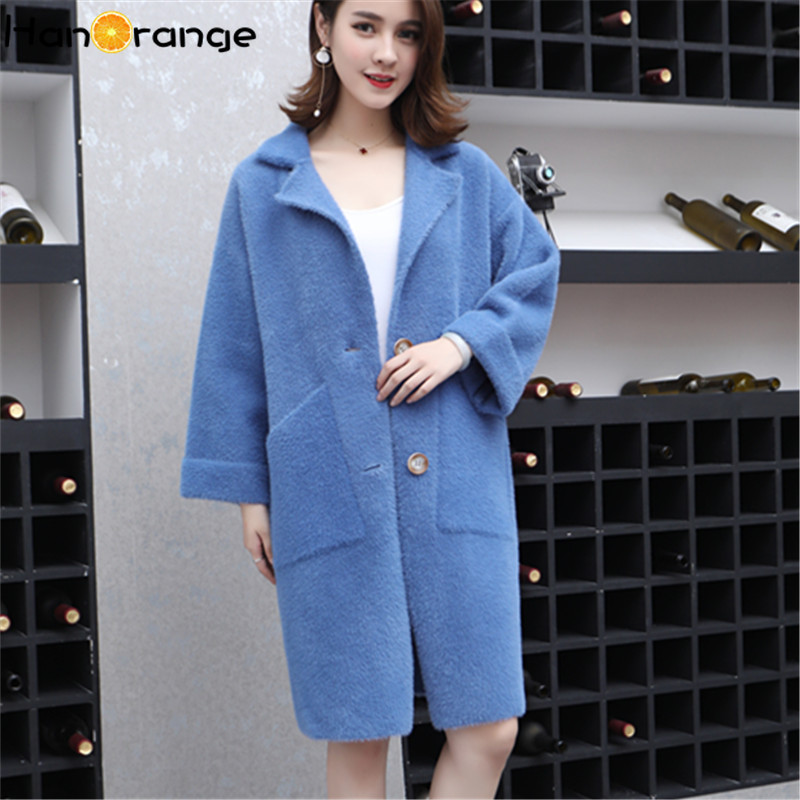 2019 Autumn Winter New Korean Women's Wear Thick Medium And Long Knitted Sweaters Women's Vale Coat Fashion Coat