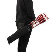 Стрела для стрельбы из лука колчан держатель 3-Tube задняя талия плечевой ремень сумка Сумка Охота