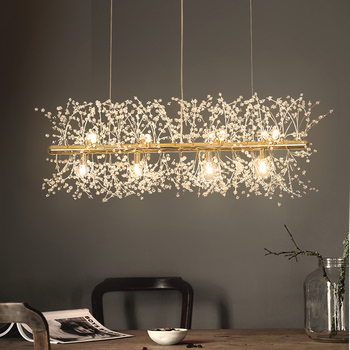 Snowflake Chandelier Nordic Style Lamp Creative Personality Crystal  Model Atmosphere Light Luxury Living Room Lighting crystal restaurant chandelier rectangular hong kong style nordic postmodern light luxurious atmosphere bedroom living room lamps
