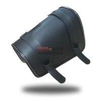 universal parts PU leather motorbike saddle bag black motorcycle saddlebag for vespa harley sportster backpack moto luggage