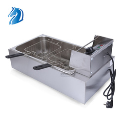 12L French Fries Frying Machine Single Tank Double Basket Commerical Electric Deep Fryer Machine