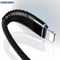 NOHON 3M 2M Cable USB de 1M de alta resistencia a la tracción para iPhone 11 Xs Xr 8X7 6S 6 Plus SE iOS 12 11 10 cargador USB de Nylon de los Cables del teléfono móvil