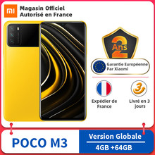 Versión Global POCO M3 4GB RAM 64GB ROM teléfono móvil Snapdragon 662 Octa Core 48MP Triple Cámara 6,53