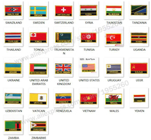 National Flag flag Embroidery Patch Badge All Over the World 8*5cm SWAZILAND SWEDEN THAILAND TURKEY UKRAINE URUGUAY USSR USA