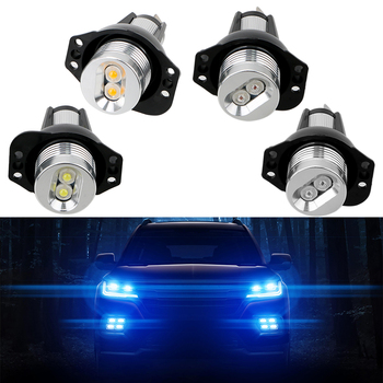 2pcs LED Angel Eyes Marker Light Bulbs Decorative Lights for BMW E90 E91 Auto Fog Lamp Error Free Car Lamps DC 12V Car Lights image