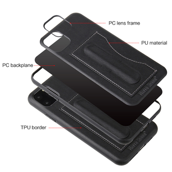 Fashion Faux Leather Card Holder Case for iPhone 11/11 Pro/11 Pro Max 5