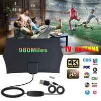 Universal 980 millas Max 4K Digital HDTV interior Antena amplificador señal amplificador TV receptor de señal alta ganancia Fox antena