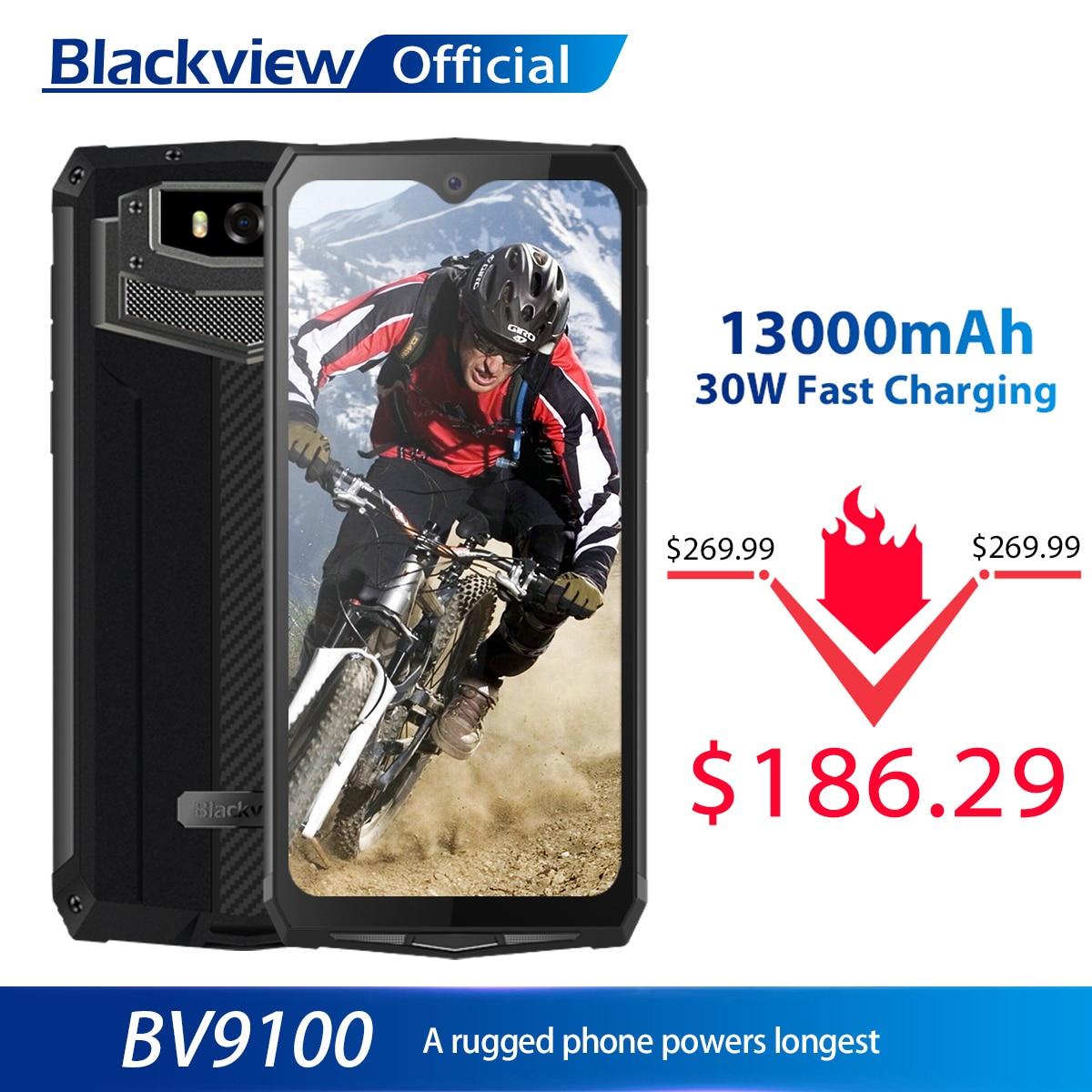 Blackview BV9100 IP68 Waterproof Cellphone 13000mAH 30W fast charging 4G Mobile Phone MTK6765 4GB+64GB 16.0MP Rugged Smartphone 1