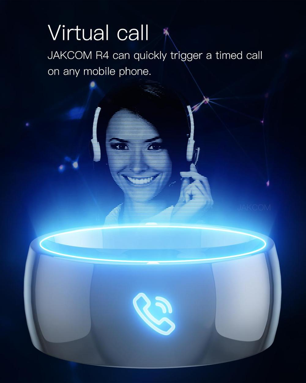 Bague connectée NFC Smart Ring 4 puces Jakcom R4 New IOS et Android