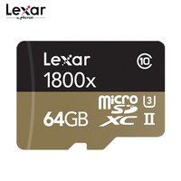 Lexar Professional 1800x Micro SD Card UHS II TF Card 64GB 32GB Up to 270MB/s U3 Class10 Memory Card Flash Card for 4K Camera