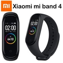 Original Xiao mi mi Band 4 และ 3 สมาร์ทสายรัดข้อมือ mi band สร้อยข้อมือ Heart Rate Fitness Track หน้าจอสัมผัส pulsera intelgent นาฬิกา