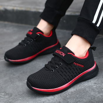 2019 autumn fly woven mesh children's running shoes girls shoes lightweight sneakers boys shoes kids loafers shoes 28-39