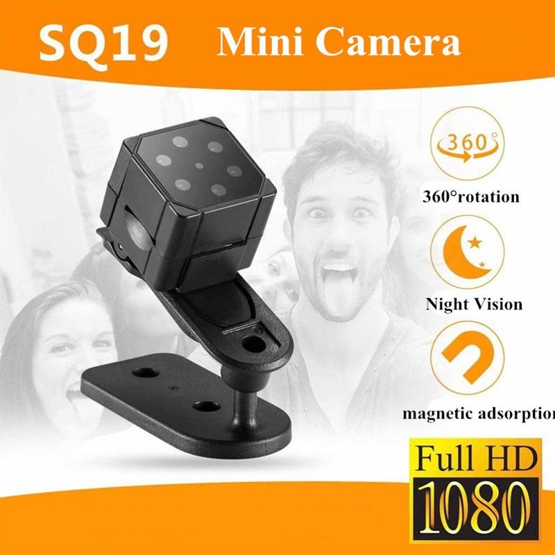SQ19 мини-камера HD 1080P ночного видения мини-видеокамера DVR рекордер камера внутреннего движения рекордер камера на магните DVR