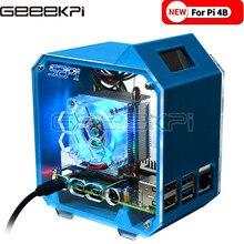 GeeekPi Ice Tower Cooling Fan V2.0 Super 7 Colours Light Bracket 3D Printer Case for Raspberry Pi 4B / 3B / 3B+