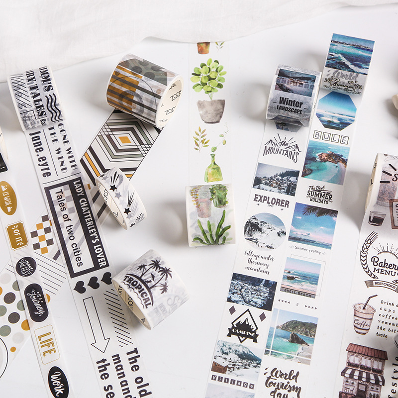 1 Roll 30mm*3m Cute Travel Around The World Cakes Masking Tape Album Scrapbooking Decor Label Washi Tape Kids Gift