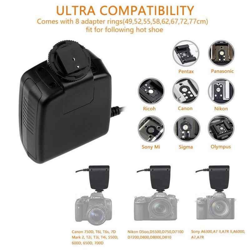 Macro 48 pièces LED anneau Flash RF550D Flash externe pour SONY Nikon Canon Olympus DSLR appareil photo clignote accessoires