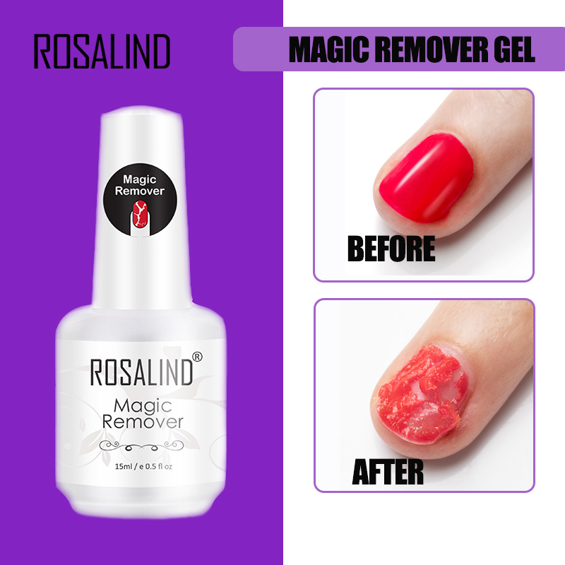 ROSALIND Magic Remover Gel Nail Polish Remover Within 2 3 MINS Peel off  Varnishes Base Top Coat without Soak off water|Nail Polish Remover|   - AliExpress