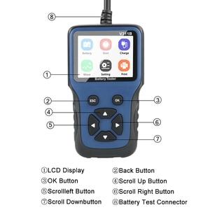 Image 2 - Analizador de cargador de batería de coche, 12V, V311B, herramientas de diagnóstico automático automotriz, Carga de coche, prueba de carga Cricut