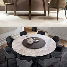 Chairs-Set Dining-Table Comedor Marble Round Nordic Stone Swiveling Mesa Wooden Muebles-De-Madera