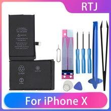 Runtianjin wymiana baterii do telefonów komórkowych dla iPhone X iPhone 10 2716mAh o dużej pojemności baterii darmowe narzędzia AKKU