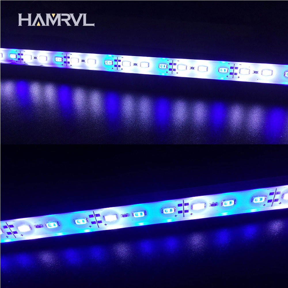 5pcs DC12V 0.5m 5730 IP68 Waterproof Grow Light Led Bar Rigid Strip Red Blue 5:1 For Aquarium Green House Hydroponic Plant White