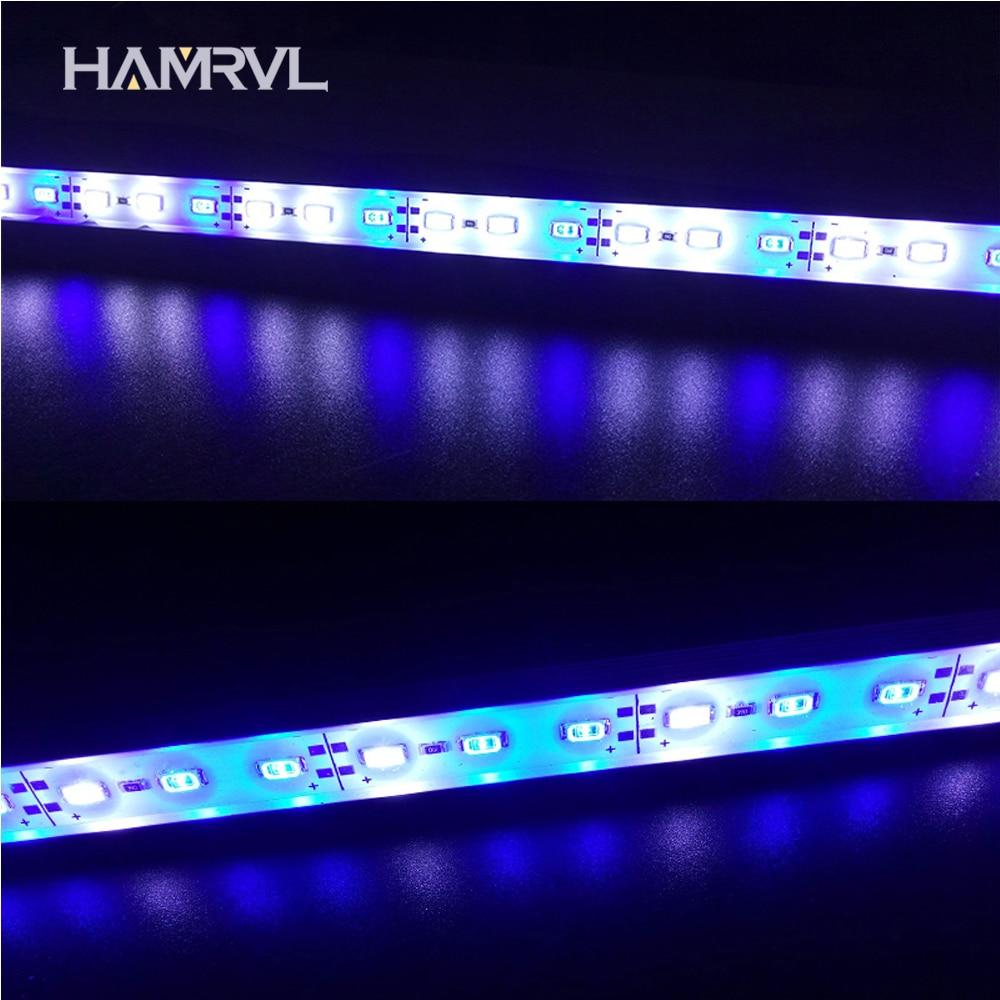 5pcs DC12V 0.5m 5730 IP68 Waterproof Grow Light Led Bar Rigid Strip Red Blue 5:1 For Aquarium Green House Hydroponic Plant White
