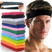 Tira de cabelo unissex esportiva, bandana de algodão para homens e mulheres, yoga, academia, estiramento, fitness, basquete