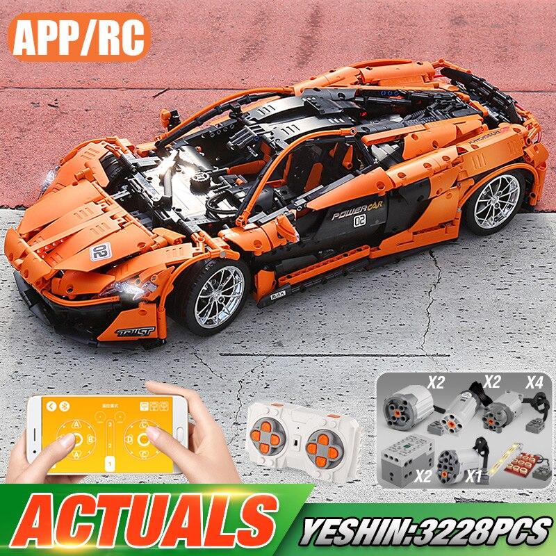 Yeshin technique voitures le legoely 20087 P1 Sport ensemble de voiture APP RC modèle de voiture blocs de construction moteur fonction voiture enfant cadeaux de noël