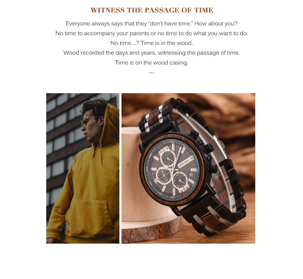 BOBO BIRD Personalized Wooden Watch Men Relogio Masculino Top Brand Luxury Chronograph Military Watches Anniversary Gift for Him H0eb1b1ecb3d04eff835fc9a9359c3008s