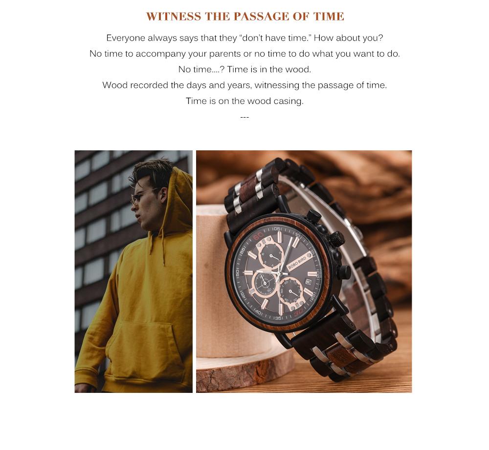 Reloj de madera bambú tallado 2