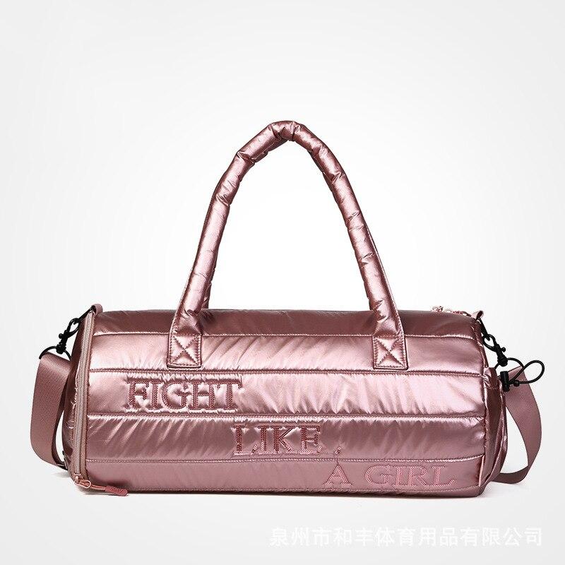 Fashion Women Glitter Bags Tote Fitness Bag Travel and Swimming Handbag Luggage Bags Sack Female Shoulder Yoga Bag Hot