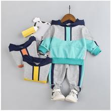 2019 Autumn New Baby Infant Sport Clothing Suits Toddler Boys Clothes Sets Hooded Coat Pants Kids Children Costume Tracksuits недорго, оригинальная цена