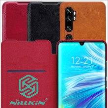 Кожаный чехол книжка Nillkin Qin для Xiaomi Mi Note 10 Pro Mi10
