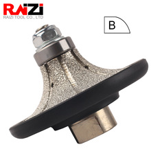 Raizi Diamond Profile Grinding Wheel Demi bullnose for Granite Marble 5/10/13/20/25/30mm