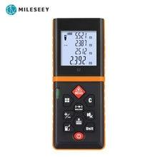 Mileseey الليزر مقياس مسافات rangefinder ترينا الليزر الشريط المدى مكتشف بناء قياس جهاز حاكم اختبار أداة