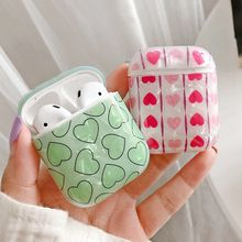 Love Heart Earphone Case Cover For Apple AirPods 1 2 Wireless Headphone Box Protective Case For Airpods 1 2 Hard Shell Bag Skin(China)