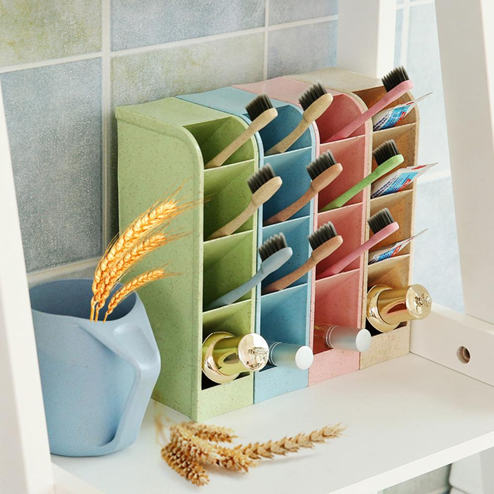 4Cell Desktop Organizer Storage Box Household Sundries Holder Stationery Drawer Cosmetic Drawer Home Office Storing Random Color
