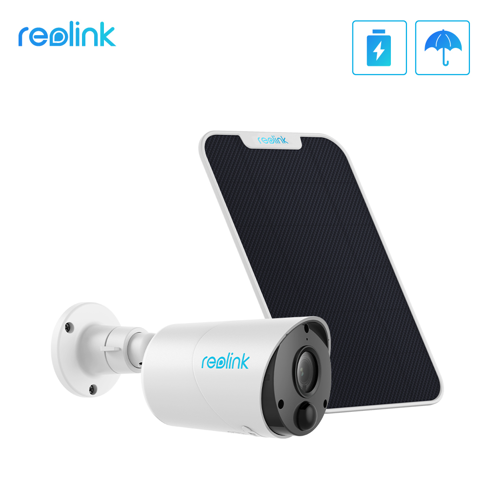 Reolink Wifi-Camera Solar-Panel Eco IP65 Outdoor Indoor-Use 1080P Wireless with PIR Audio-Sd-Card-Slot