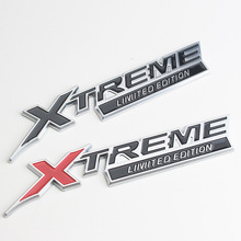 עבור טויוטה X TREME סמל לנד קרוזר 100 Prado 150 120 VXL TXL דובאי 3D מתכת מדבקות אוטומטי צד אחורי תג רכב קישוט
