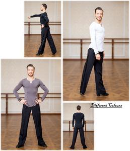 Image 5 - SuperStar Serie: G5008 latin modern ballroom dance professionelle elastische kristall baumwolle tops shirt für männer