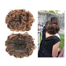 Синтетические грязные волосы пучок шиньон с эластичной лентой