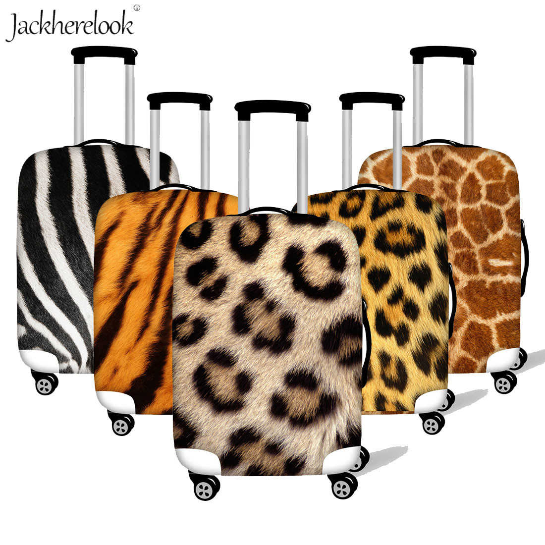 Cheetah Zebra Fur Printed Luggage Cover Suitcase Dustproof Sheet Lepoard Tiger Giraffe Travel On Road Trolley Case Protect Cover