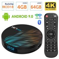 Android 9.0 tv  pudełko HK1 MAX 4 GB/64 GB RK3318 czterordzeniowy 64 bitowy 2.4 Ghz/5.0 Ghz WiFi BT 4.0 HDMI 4K VP9 3D smart tv box w Dekodery STB od Elektronika użytkowa na