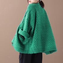 Женская новая осенне-зимняя верхняя одежда в Корейском стиле большого размера, ажурный свитер на пуговицах, Свободный кардиган