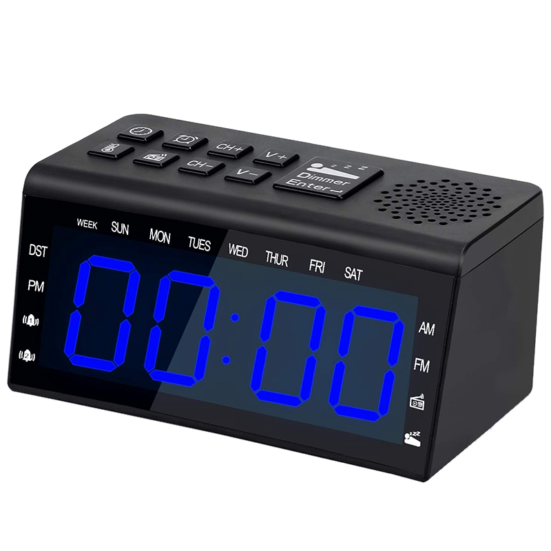 Alarm Clock for Heavy Sleepers Alarm Clock Radio with with FM AM Alarm Clock with USB Charger Alarm Clock for Bedrooms with Slee(China)