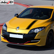 Strisce del cofano del cofano dellautomobile delle decalcomanie del vinile di Sport di corsa per Renault Megane coupé GT RS 2009 2020 autoadesivi della decorazione della copertura del motore automatico