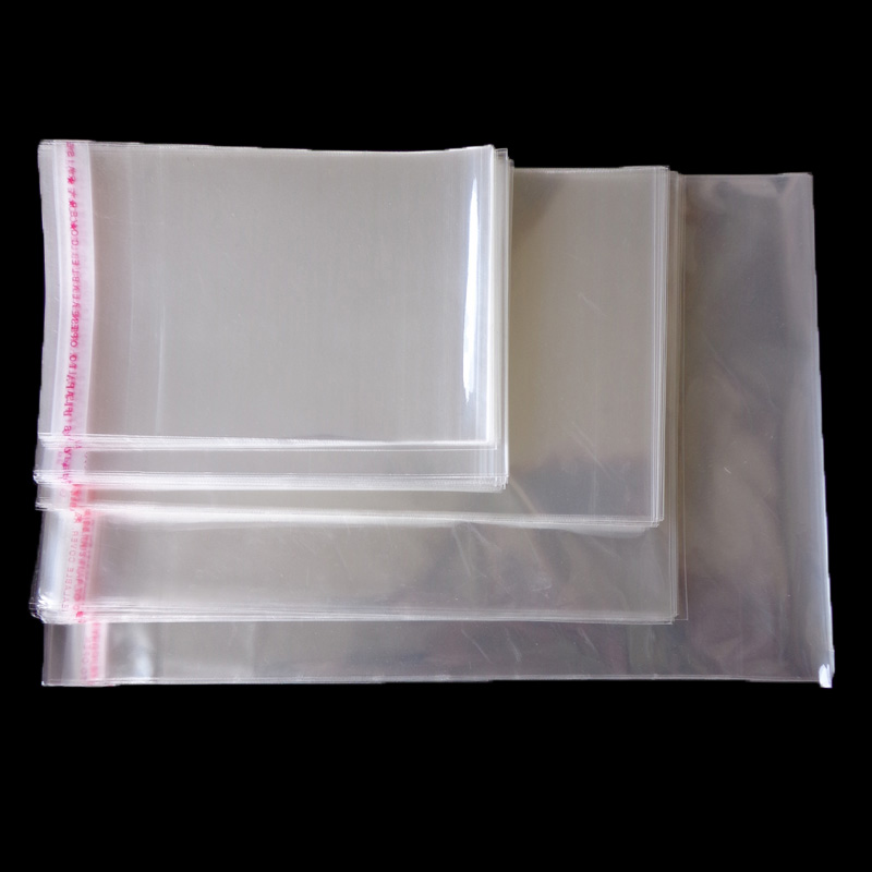 50pcs Resealable Plastic Transparent Bags Clear Cellophane Self-adhesive Plastic Opp Bag Packing Storage Poly Gift Bag